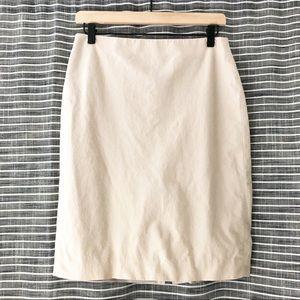 Ann Taylor | Tan Khaki Career Pencil Skirt